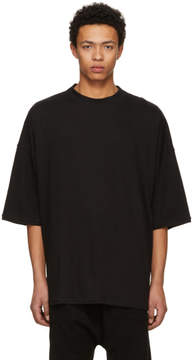 Isabel Benenato Black Boxy T-Shirt
