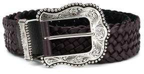 B-Low the Belt Women's Burgundy Leather Belt.