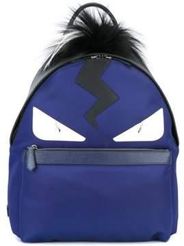 Fendi Men's Blue Leather Backpack.
