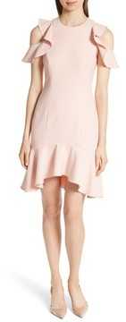 Cinq à Sept Women's Micah Ruffle Cold Shoulder Dress
