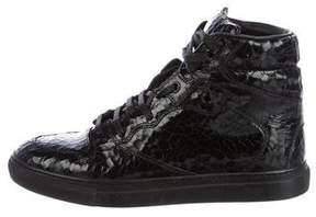 Balenciaga Embossed High-Top Sneakers