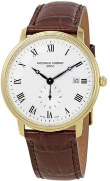 Frederique Constant Classics Slim Line Silver Guilloche Dial Men's Watch 245M5S5