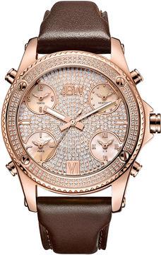 JBW Diamond Mens Rose Goldtone Strap Watch-J6354c