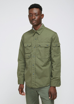 Engineered Garments Olive Ripstop CPO Shirt