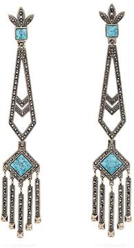 Valentino Embellished drop earrings
