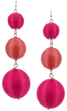 Anna & Ava Claire Thread Ball Drop Statement Earrings