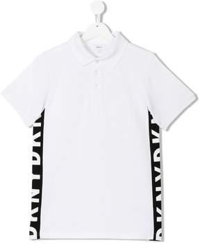 DKNY TEEN side panel polo shirt