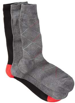 Cole Haan Modern Diamond Crew Socks - Pack of 3