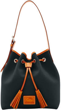 Dooney & Bourke Patterson Leather Aimee Drawstring - BLACK - STYLE