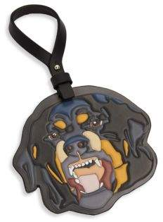 Givenchy Rottweiler Leather Keychain