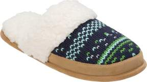 Dearfoams Patterned Knit Closed Toe Scuff (Women's)