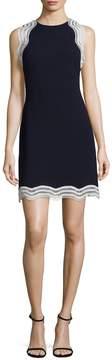 Donna Ricco Women's Scallop Panel Shift Dress