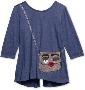 Jessica Simpson Libra Purse Graphic-Print T-Shirt, Big Girls (7-16)