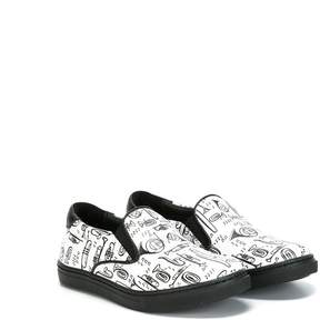 Dolce & Gabbana 'Musical' print slip-on sneakers