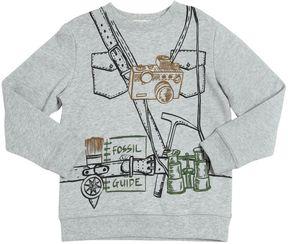 Stella McCartney Camera Printed Organic Cotton Sweatshirt