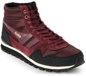 Gola Burgundy Black Ridgerunner II High Top Sneakers