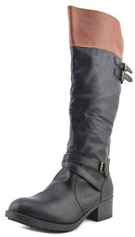 Rampage Indiana Women Round Toe Synthetic Black Knee High Boot.