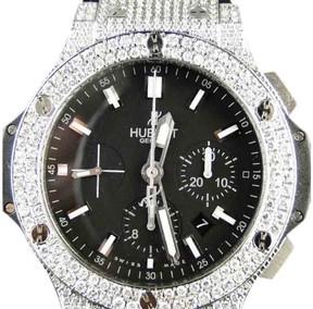 Hublot Big Bang Genuine Diamond 10.5 Ct Mens 44 Mm Watch