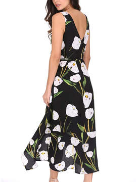 AX Paris Black Floral Maxi Dress - Women