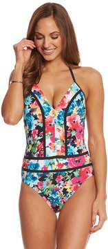 Bleu Rod Beattie Two of a Kind Plunge Halter One Piece Swimsuit 8152602