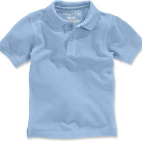 Nautica Short-Sleeve Uniform Polo, Big Boys Husky (8-20)