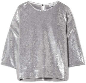 IRO Naphe Oversized Sequined Cotton T-shirt - Silver