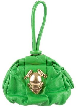 Marc Jacobs Leather Rana Pouch - GREEN - STYLE