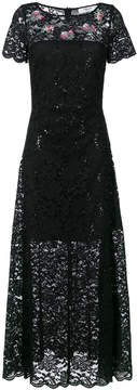 Blugirl long lace flared dress