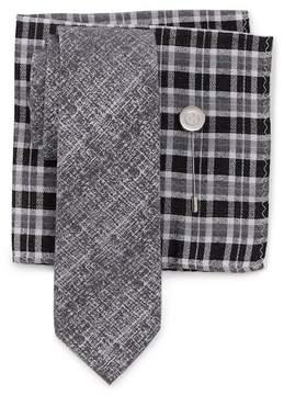 Ben Sherman Raglen Solid Tie, Pocket Square, & Lapel Stick Pin Set
