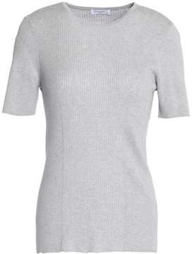 Equipment Davenport Ribbed Cotton Silk And Cashmere-Blend T-Shirt