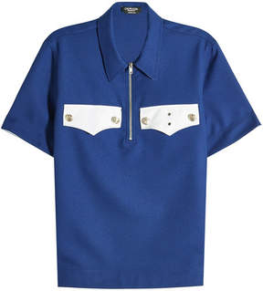 Calvin Klein Cotton Polo Shirt with Embossed Buttons