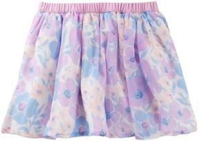 Osh Kosh Oshkosh Bgosh Girls 4-12 Floral Print Chiffon Skirt