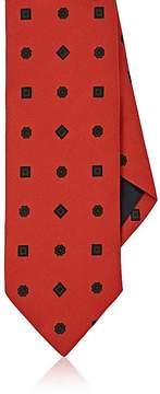 Drakes Drake's Men's Floral- & Diamond-Print Silk Faille Necktie