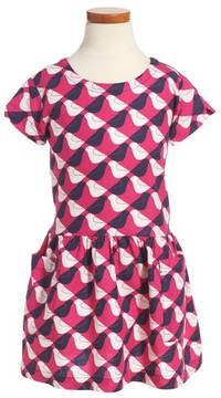 Tea Collection Toddler Girl's Argyle Birds Dress