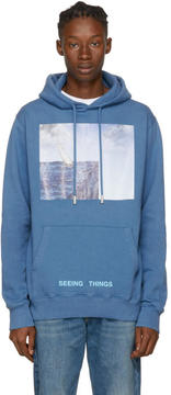 Off-White Blue Surreal Sea Hoodie