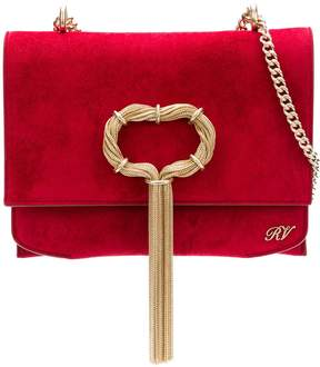 Roger Vivier Club Leather Chain Clutch