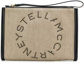 Stella McCartney eyelet logo clutch