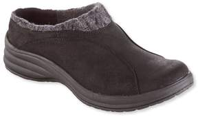 L.L. Bean L.L.Bean Women's North Haven Knit-Trim Suede Clogs