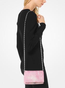 Michael Kors Yasmeen Tie-Dye Leather Clutch - ROSEWATER - STYLE