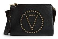Mario Valentino Leather Logo Convertible Clutch