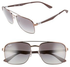 Ray-Ban Men's Retro 58Mm Sunglasses - Brown