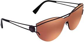 Versace Brown Mirror Orange Rectangular Sunglasses