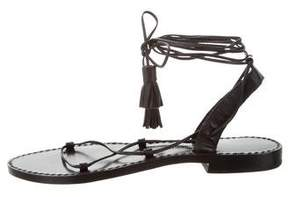 Anine Bing Leather Lace-Up Sandals