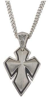 Armani Exchange Jewelry Mens Cross Pendant In Stainless Steel.