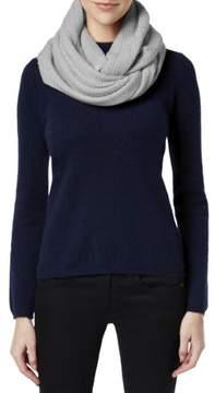Calvin Klein Womens Textured Stripe Loop Scarf