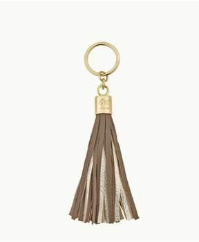 GiGi New York Tassel Key Chain In Driftwood And Gold