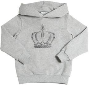 Dolce & Gabbana Hooded Royal Cotton Sweatshirt