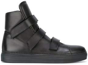 Ann Demeulemeester oversize tongue hi-top sneakers