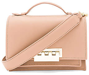 Zac Zac Posen Earthette Accordion Shoulder Bag in Tan.