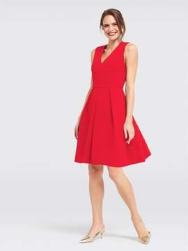 Draper James Solid Crepe Love Circle Dress